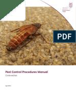Pest Control Procedures Manual Cockroaches