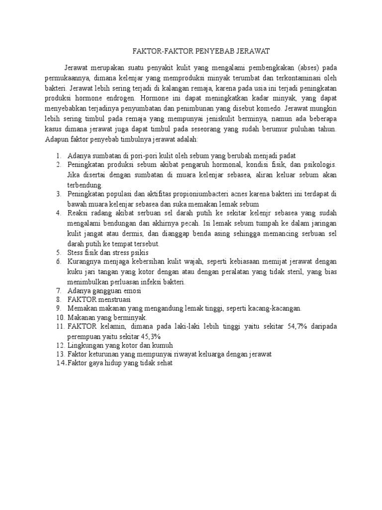 faktor penyebab jerawat docx