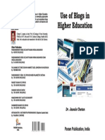 Use of Blogs in Higher Education