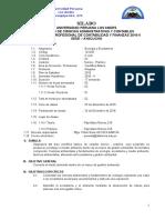Silabo ECOLOGIA Y ECOSISTEMAS Para Contabilidad. 2015