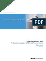 Assessing Lync Server Licensing