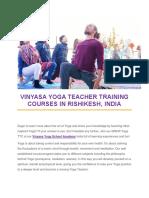 Vinyasa Yoga Teacher Training Courses in Rishikesh-Vinyasa Yoga Academy