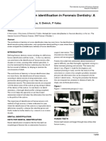 Methods for Human Identification in Forensic Dentistry a Review