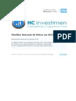 Planilha Financeira - Alocação de Ativos Em 2011
