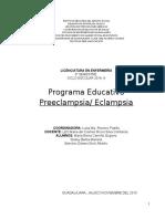Programa Educativo Preeclampsia y Eclam