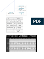 Tablas de Conversion