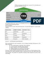 8 Pillars of TPM