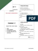 grammar cards - punctuation 1