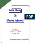 E. Altman, Networking Games