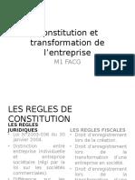 Constitution Et Transformation de l'Entreprise