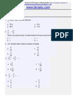 Soal Ulangan Harian Matematika KTSP Kelas 5 Bab 6 Pecahan SEmester 2