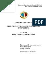 EEM328 Electronics Laboratory - Report2 - Diode Characteristics