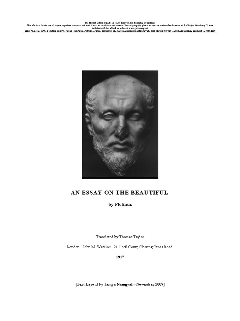 Matters of life and dating plotinus