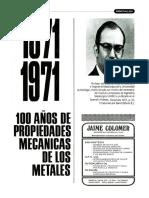 5 - 1871-1971 - 100 Anos de Propiedades Mecanicas de Los Metales - Leslie William