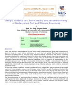 GeoSS Evening Seminar Geotechnical Port and Offshore Structures 16 Nov 16