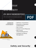 Sanitation in Hrtm 133 Housekeeping