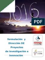 Taller Formulacion y Direccion de Proyectos 2016