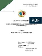 EEM328 Electronics Laboratory - Report4 - BJT Biasing
