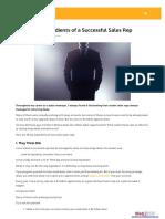 10 Key Ingredients of a Successful Sales Rep