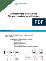 Componentes Electrónicos Diodos, Transistores y Tiristores