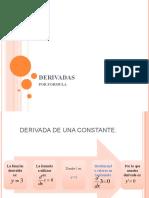 DERIVACIÓN ALGEBRAICA POR FORMULAS
