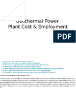 Geothermal Power Plant Cost