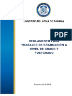 Reglamento de Trabajo de Graduacion a Nivel de Grado y Postgrado