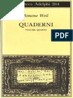 Weil, Simone - Quaderni. Vol. 4