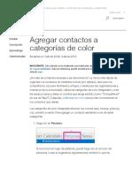 Agregar contactos a categorías de color - Outlook 2013