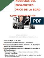 Filosofia TENDENCIAS DEL PENSAMIENTO FILOSOFICO