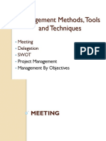 Management 6 Management Methods Tools and Techniques