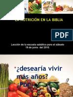 Nutricion en La Biblia