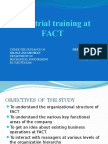 Industrial Training at FACT