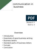 Written Communication in Business