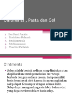 Ointments , Pasta Dan Gel