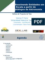 NACluster - Resolvendo entidades a partir de múltiplos catálogos de Astronomia