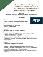 Instrumento Laboris - Sínodo Dos Bispos 2015
