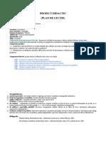 Plan de Lectie Si Test Docimologic (2)