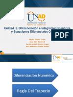 Diferenciación e integración numérica UNAD
