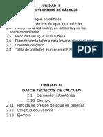 Unidad II Datos Técnicos de Cálculo