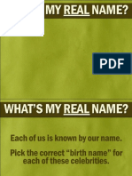 What's My Real Name
