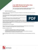 Postgraduate Scholarship Assessment