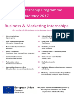 Business and Marketing Internships