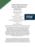 Ministerio Publico Estafa Acusacion Abogado en Venezuela
