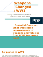 how weapons have changed since ww1  1