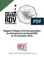 Rapport d'Étape le grand RDV de la Métropole