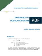 EXPERIENCIA 1.- Modulation Con Portadora JBP