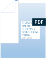 Clasificacion de Suelos y Granulometria