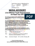 11-22-16 Mko Media Advisory - Live Different Youth Empowerment Ice Road Tour 2017