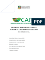 Informacoes Importantes Cadastro Ambiental